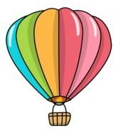 Colorful air balloons clipart