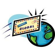 Global letter writing clipart