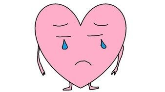 crying pink heart