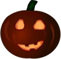 pumpkin for halloween as a graphic illustration