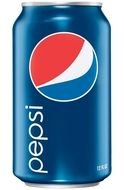 isolated Pepsi can
