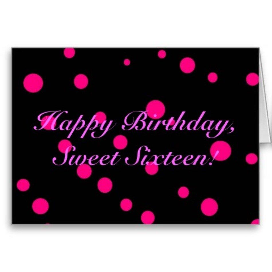 Happy Sweet Sixteen Birthday Cards Free Image