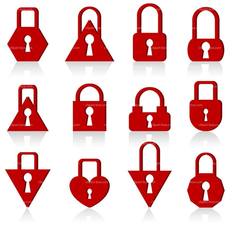 red Locker Clip Art drawing