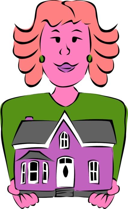 House Vector Clip Art drawing