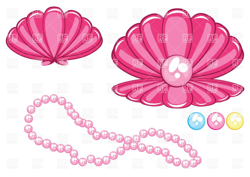 clipart of the pink Pearl Necklace