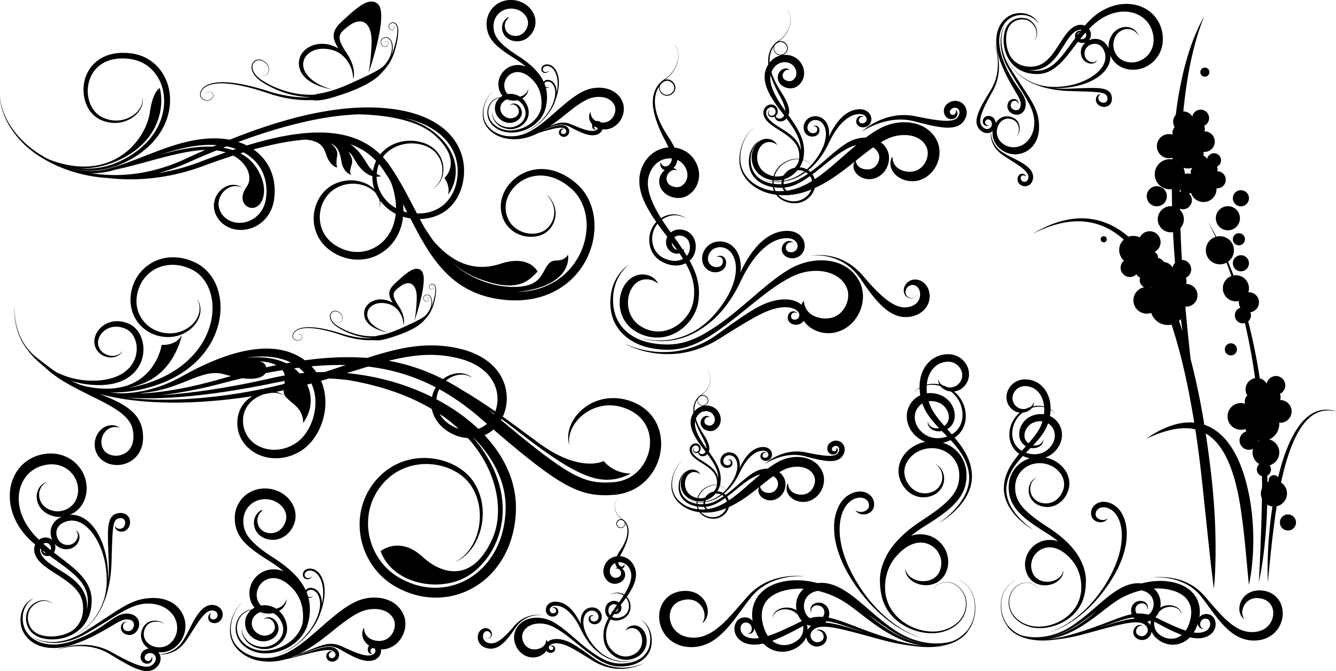 simple swirl vector - HD4577×2300