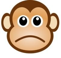 Sad Monkey Face Clip Art