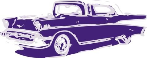 Colorful classic car clipart