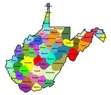 West Virginia Map as a graphic illustration