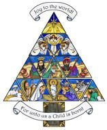 clipart of the Christmas Nativity triangle