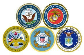 Clipart of Military Branches emblems