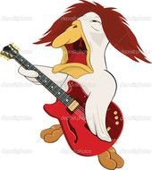 clipart of the Rock And Roll Band player