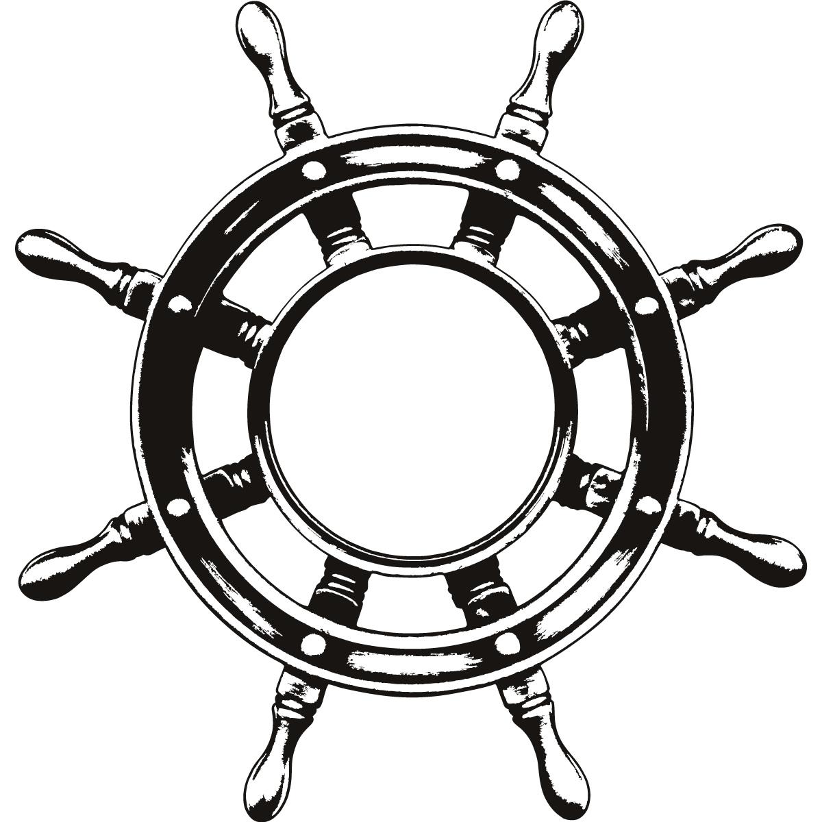 Pirate Ship Steering Wheel Drawing Free Image