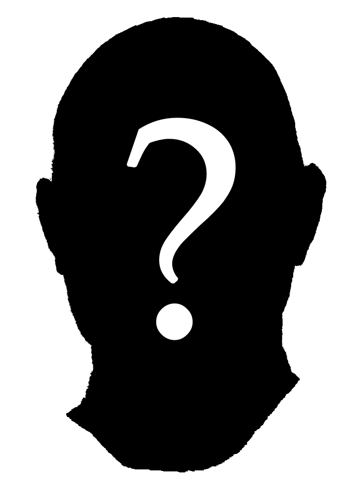 Clipart of a Silhouette With Question Mark free image