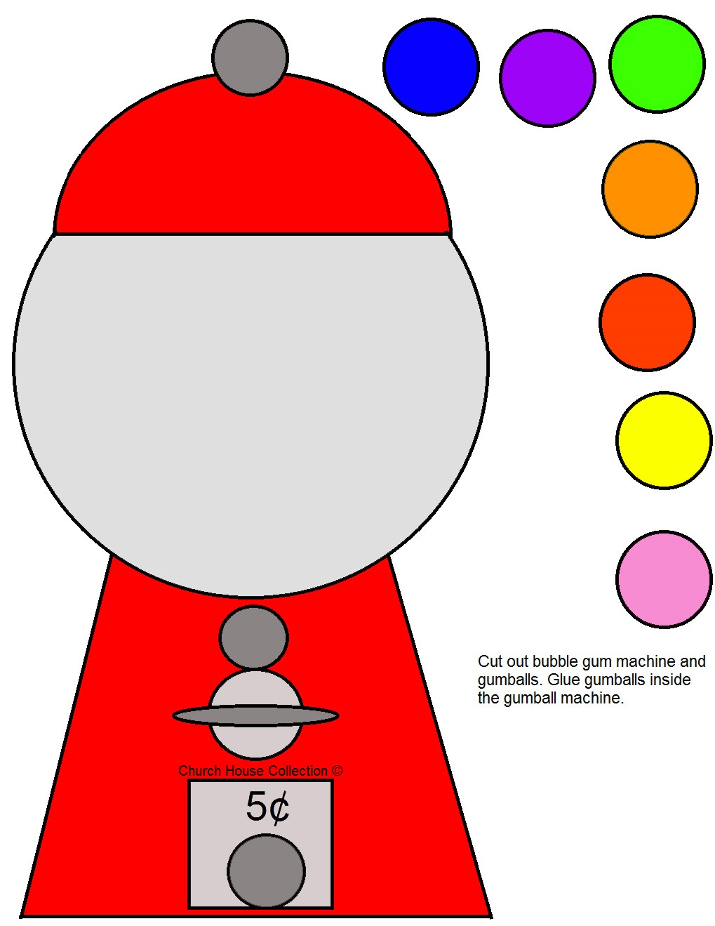 picture relating to Printable Gumball Machine identify Bubble Gumball System Template absolutely free impression