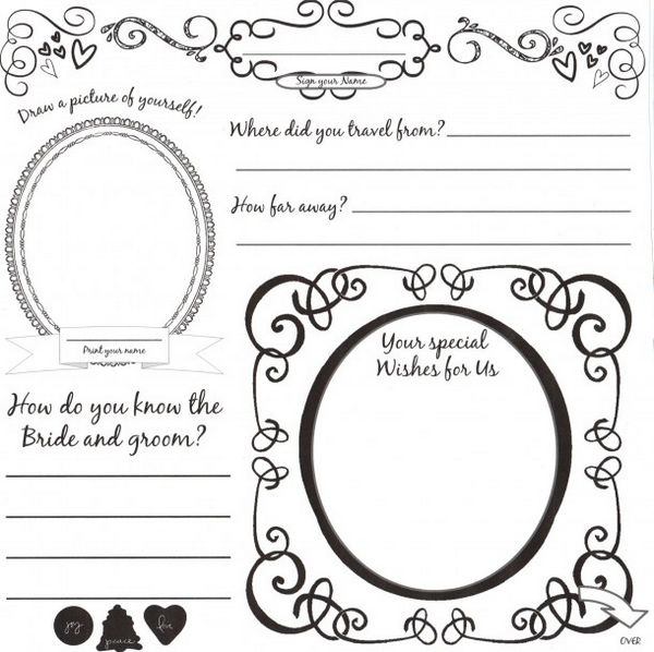 This is a picture of Printable Guest Book Pages inside design