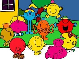 Colorful Mr Men Clipart