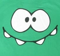 funny Green Smiley Face drawing