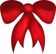 Red Christmas Bow Clip Art N4