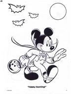 Mickey Mouse Coloring Page drawing