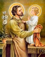 St Joseph And Jesus drawing