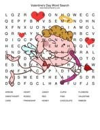 Valentines Day Word Search Puzzles