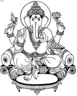 Ganesh Coloring Pages