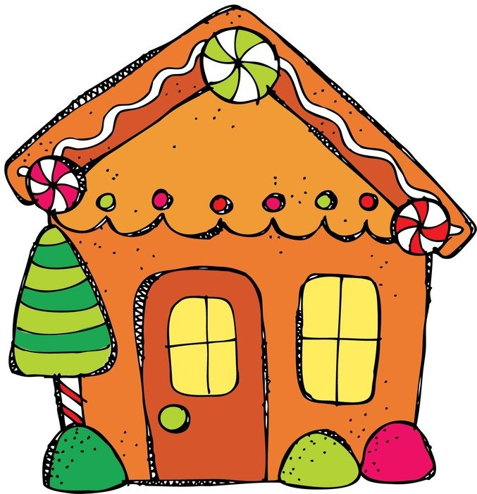 Gingerbread House Clip Art drawing