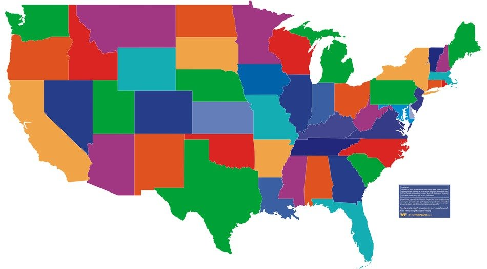 United States Of America State Map free image