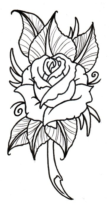 Traditional Rose Tattoo Designs