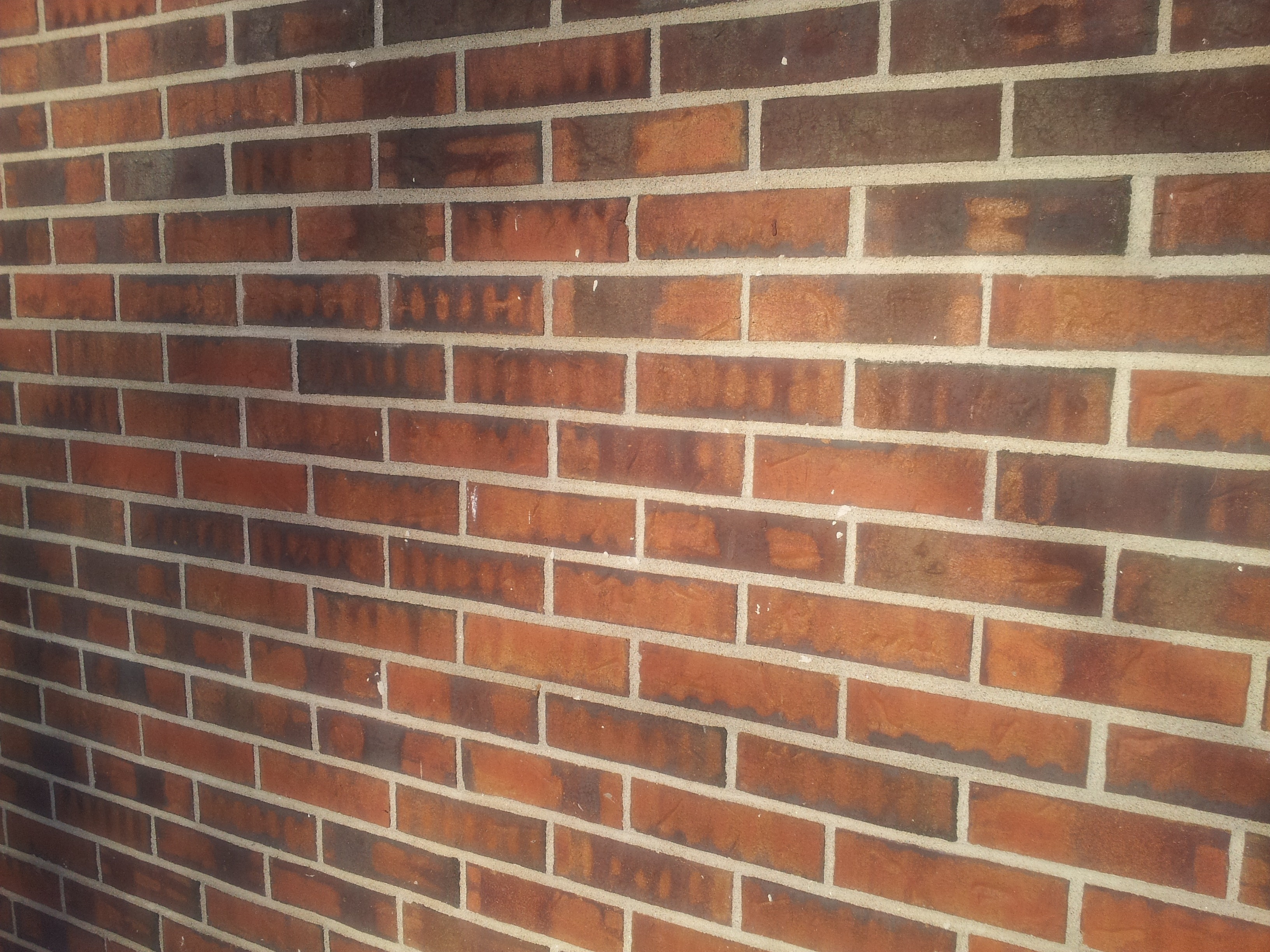Side View Of A Brick Wall