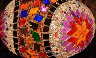 mosaic art colorful ceramic