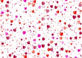colored hearts on a white background