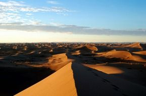 peaceful desert in morocco