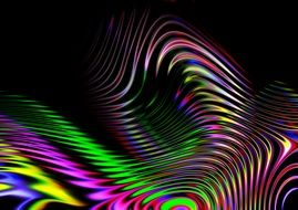 wave lines of rainbow colors