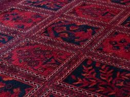 red wool tying ornament carpet