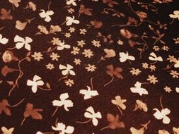 flower white brown patterns