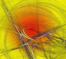 abstract hairlike lines on yellow wallpapers