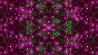 fractal purple green art