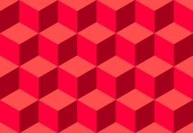 cube pattern seamless tile red