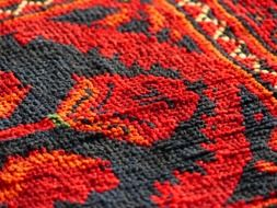 red carpet made of silk wool