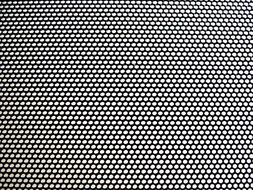 perforated black sheet pattern