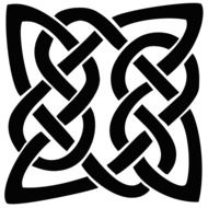 silhouette of celtic knot
