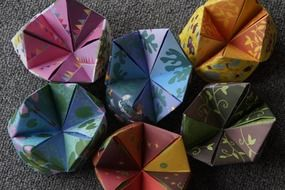 origami colorful children pattern figures