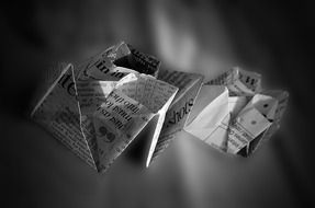origami from a newspaper
