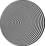 concentric circles round black