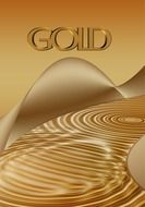 graphic gold waves