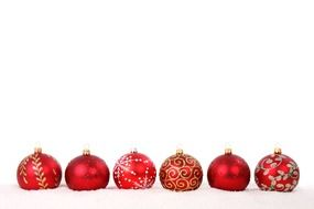 red grass christmas balls bauble celebration