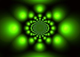 green color bokeh abstract light background