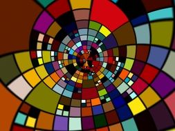 clipart of colorful mosaic located in a circle